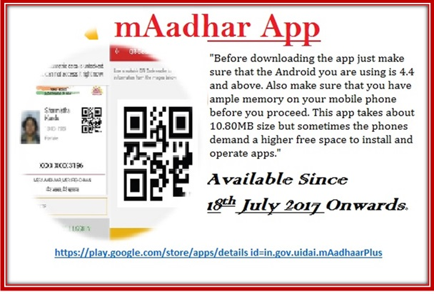 mAadhar App Download Install Uses
