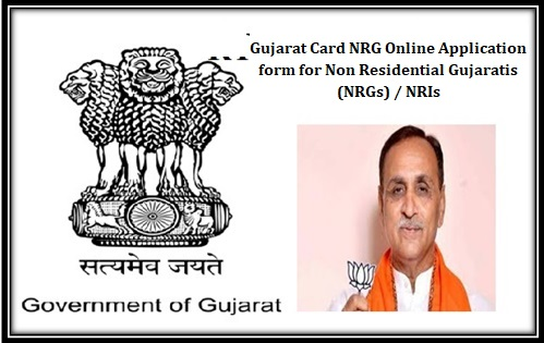 Gujarat Card NRG Online Application form for Non Residential Gujaratis NRGs