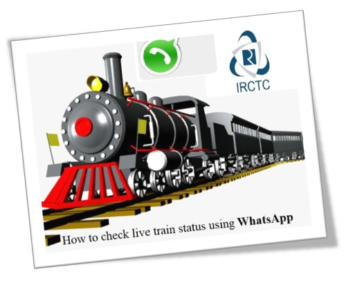 How to check live train status using WhatsApp