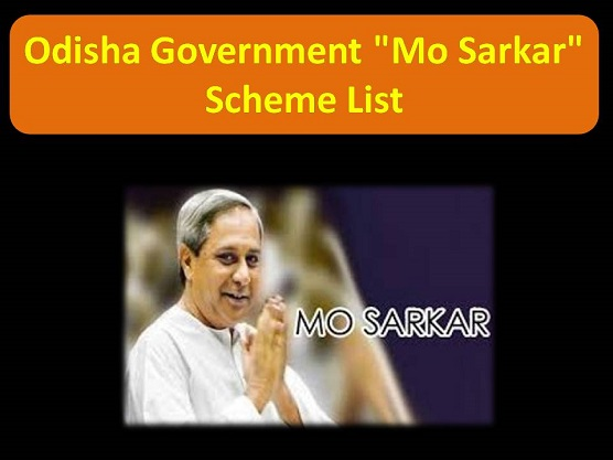 Odisha Government Mo Sarkar All Scheme List